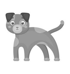 Dog single icon in monochrome styledog vector