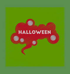 Flat shading style icon halloween sign vector