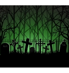 Graveyard cemetery tomb in forest vector