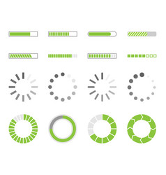 Loading icons load indicator sign vector
