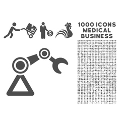 Manipulator icon with 1000 medical business vector