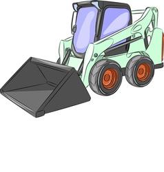 Mini excavator g vector