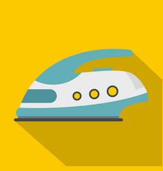Modern electric iron icon flat style vector