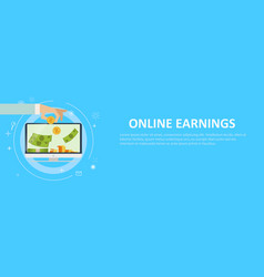online earnings banking vector image