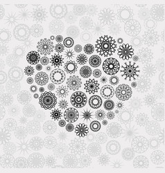 Ornamental heart vector