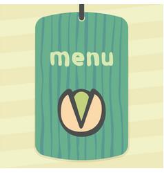 Outline pistachio icon modern infographic logo vector
