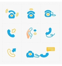 Phone colorful icons vector