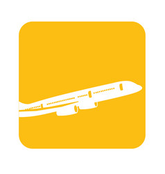 Picture fly airplane transportation vector