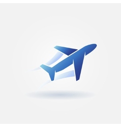 Plane takeoff blue logo vector