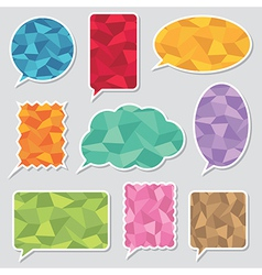 polygon speech bubbles vector image vector image