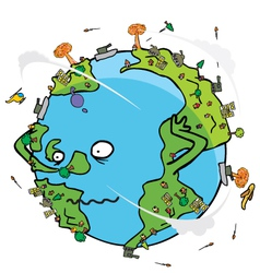 Poor earth cartoon vector