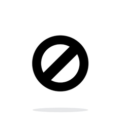Prohibited icon on white background vector image