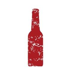 Red grunge bottle logo vector