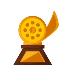 Reel film trophy awards golden vector
