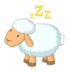 Sheep icon cartoon style vector