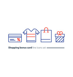 Shopping special offer bonus card loyalty program vector