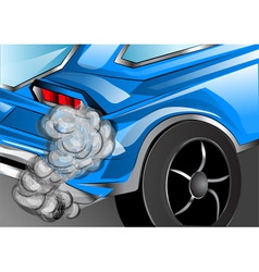 Smoking exhaust vector