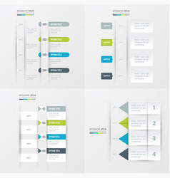 Timeline design 4 item green blue gray color vector
