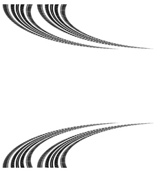 Tire tracks in perspective vector