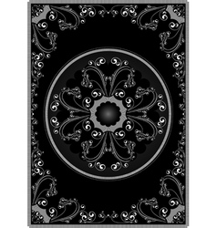 White frame with calligraphic ornament vector