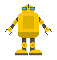 Yellow machine icon isolated vector