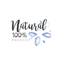 Percent natural beauty promo sign vector