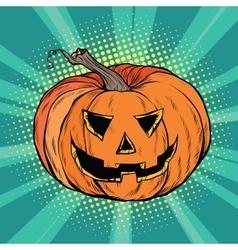Evil pumpkin character halloween vector