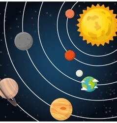 universe planets space concept vector image