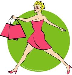 Girl shopping vector image