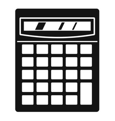 Electronic calculator icon simple style vector