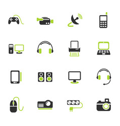 devices icon set vector image