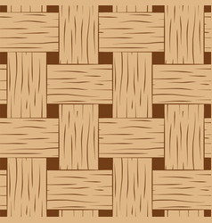 Braided seamless pattern brown and beige basket vector