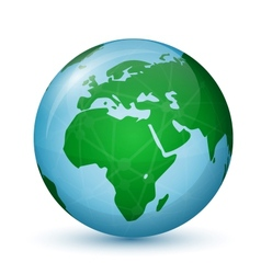 World globe map - africa  europe vector