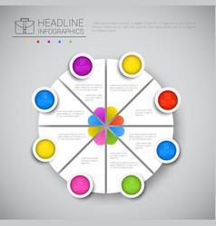 Headline infographic chart pie diagram design vector