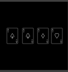 playing cards it is icon vector image