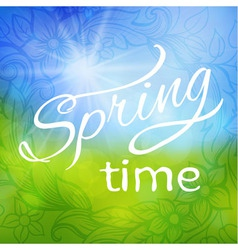 abstract spring background frame vector image