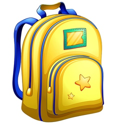 A yellow schoolbag vector