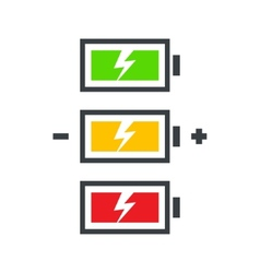Battery power icon set vector