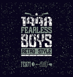 Fearless boys team emblem vector image