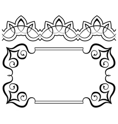 Set of frames and borders elements for design vector