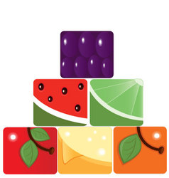 Fruit pyramid vector