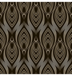 Seamless pattern monochrome ornament with stylized vector