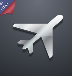 Airplane icon symbol 3d style trendy modern design vector
