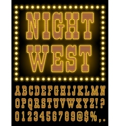 Vegas night font vector