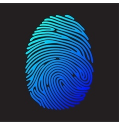 Blue color fingerprint vector
