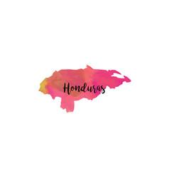 Abstract honduras map vector