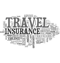 At your own risk countries where travel insurance vector