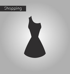 Black and white style icon summer dress vector
