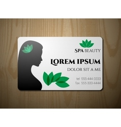 Business card for SPA salon vector image
