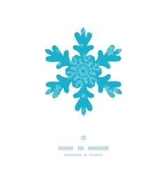 Christmas snowflake frame blue snowflakes textile vector